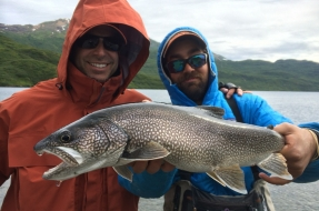 A nice Lake Trout caught in the Wood-Tikchik State Park