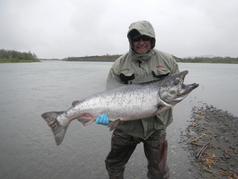 Bob Chittenden with a King Salmon from the Togiak River